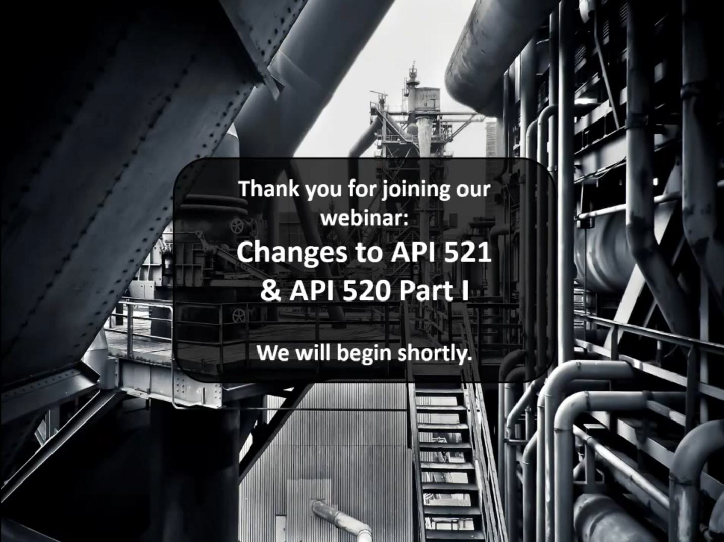 Changes to API 520 Pt I & 521